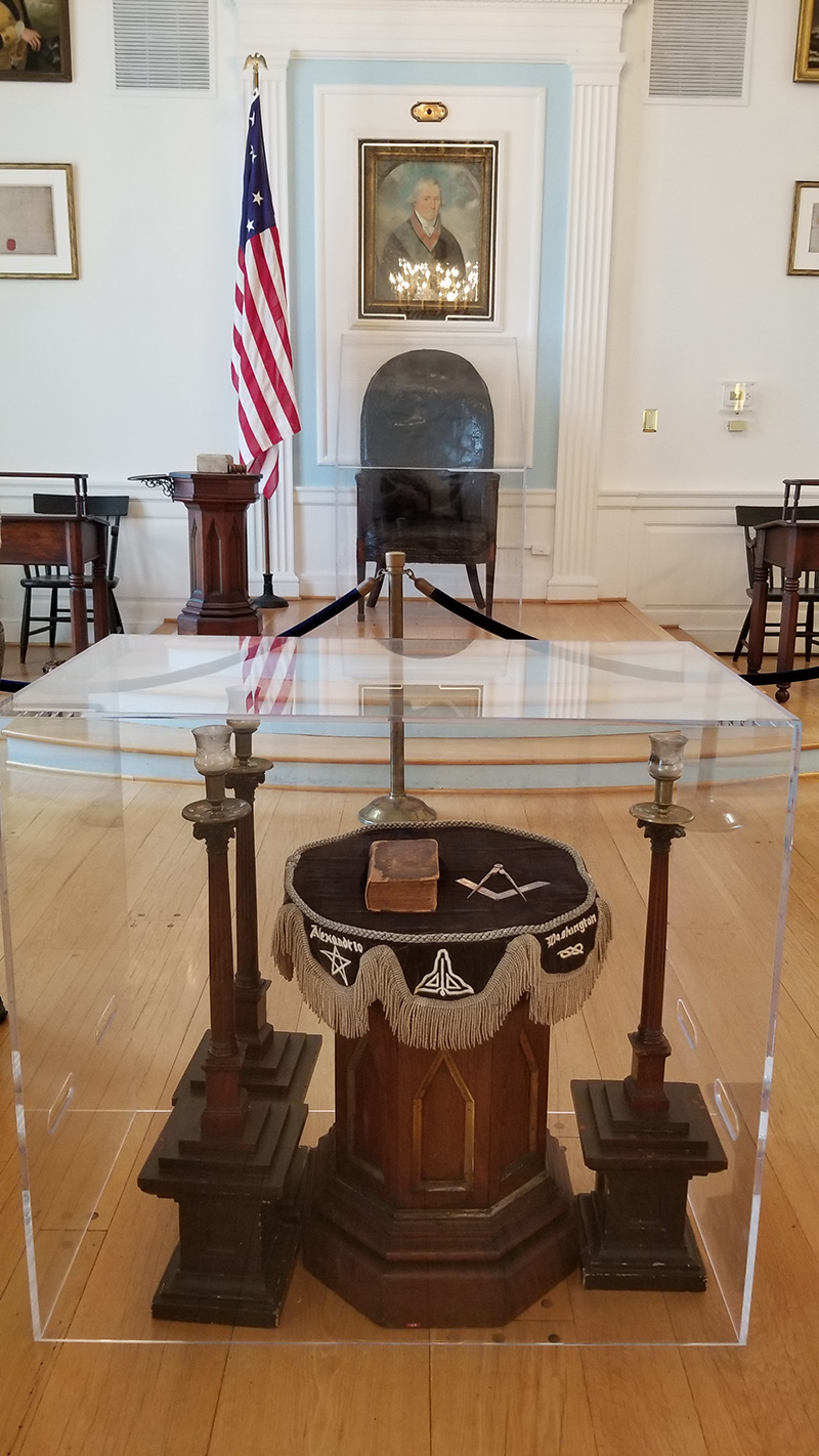 George Washington Lodge Room