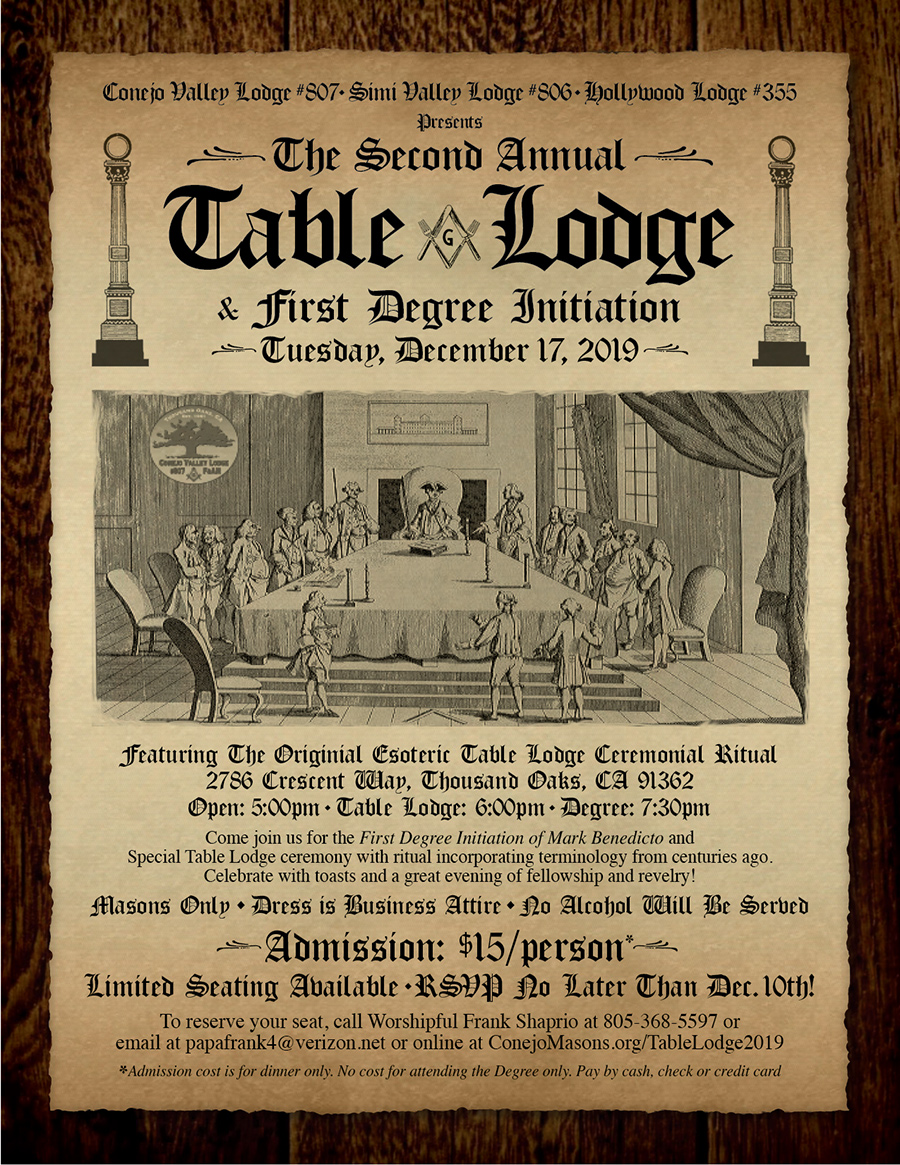Table Lodge 2019